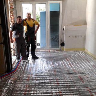 Отоплителна система с подово и радиаторно отопление